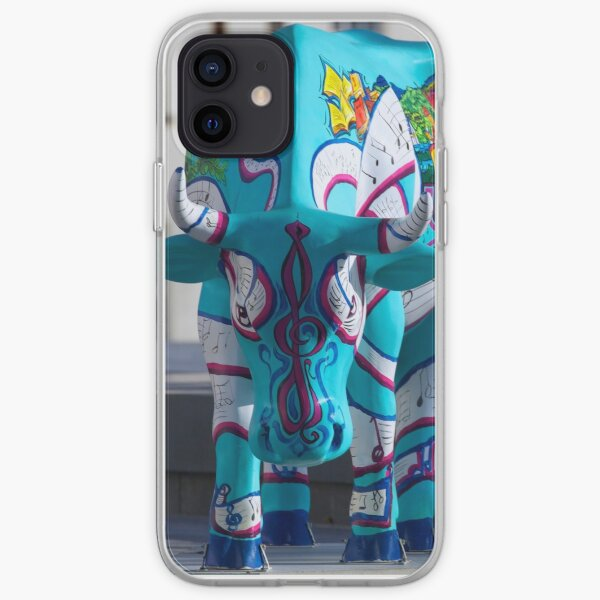 Painted Cow by Cathedral Youth, Ebrington Square Derry iPhone Soft Case