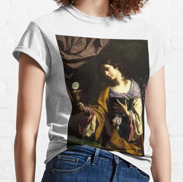 #Painting #Portrait #Art #VisualArts #people adult religion color image copy space women Classic T-Shirt