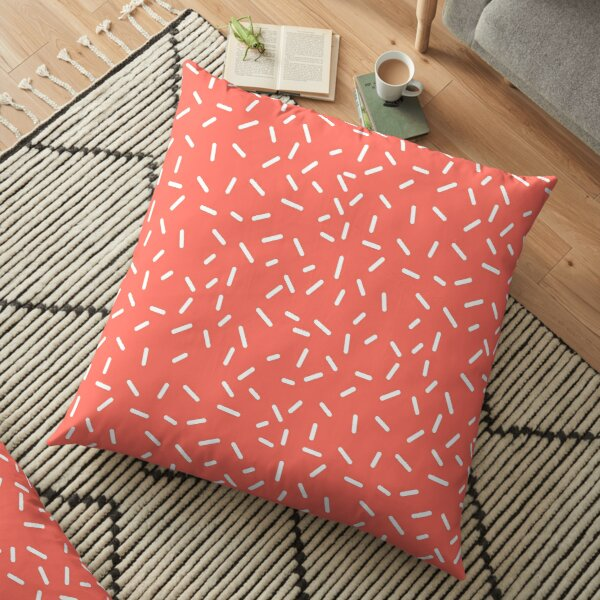 Living Coral Memphis Floor Pillow