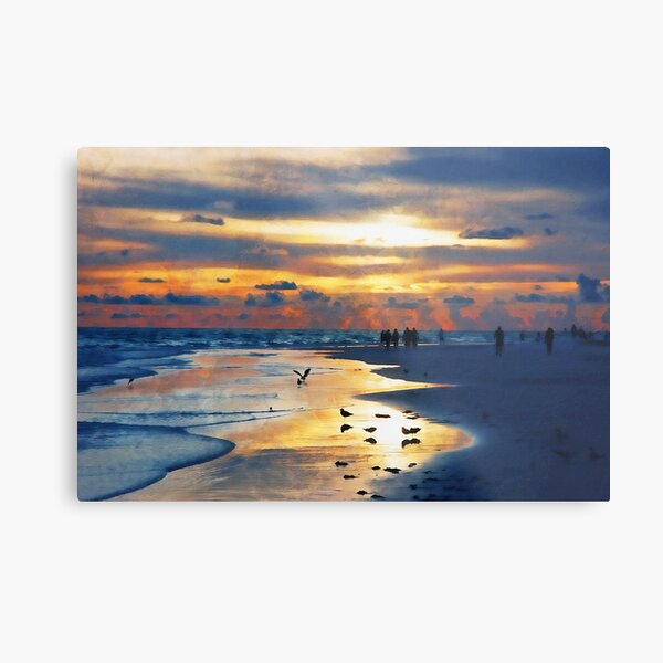 Siesta Key, Florida Sunset Metal Print