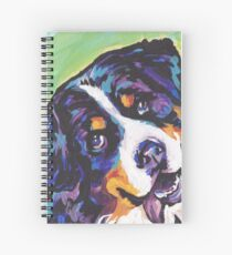 Bernese Mountain Dog Bright colorful pop dog art Spiral Notebook