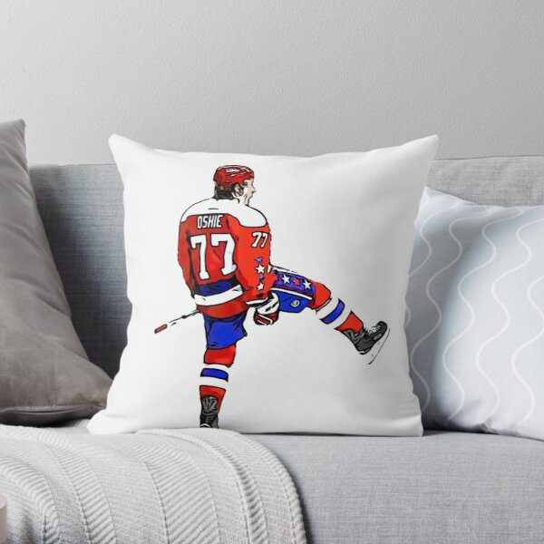 TJ Oshie Throw Pillow