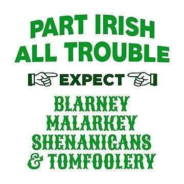 Part Irish All Trouble Saint Patrick's Day by CafePretzel