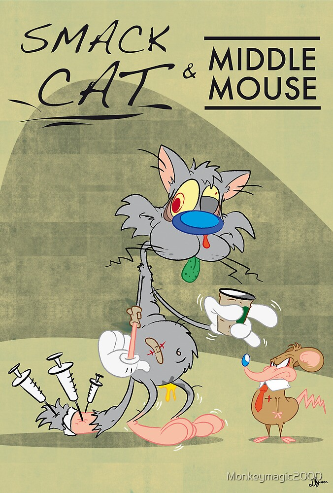 Smack Cat & Middle Mouse by Monkeymagic2000