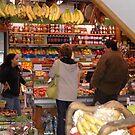 Outdoor Market, Santa Margherita Ligure, Italy by Edward J. Laquale