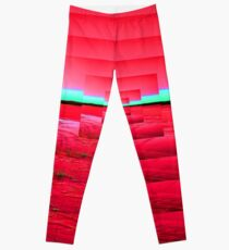 Red Abstract Leggings