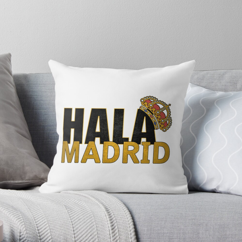 Football Soccer Fans Ultras Madrid Throw Pillow By Tombalabomba Redbubble