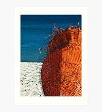ORANGE - Cottesloe Beach, Perth, Western Australia Art Print