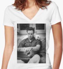 Marlon Brando Women's Fitted V-Neck T-Shirt