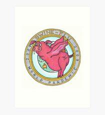 Swine Flu World Pandemic 2009 Art Print