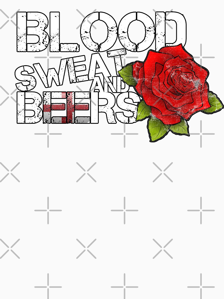 Blood Sweat Beers England Flag Rugby Six Nations  by thespottydogg