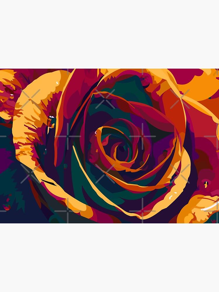 Rainbow rose by Elviranl