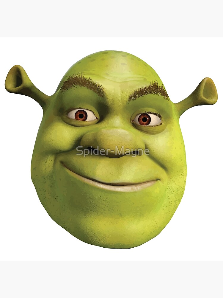 Shrek Face Greeting Card By Spider Mayne Redbubble