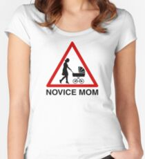Novice mom Women's Fitted Scoop T-Shirt