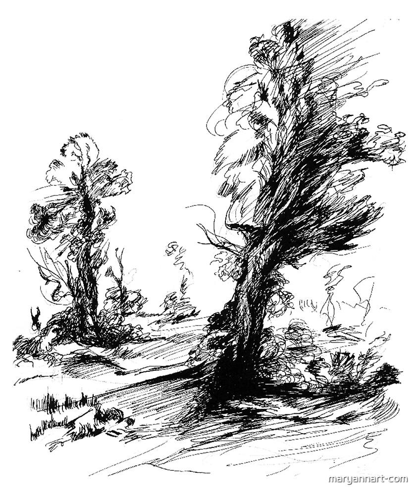 Trees by maryannart-com