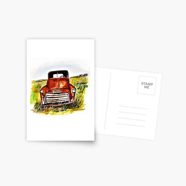 Rusted Farm Truck Postcard