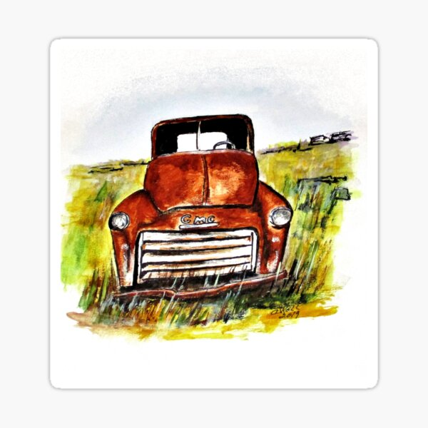 Rusted Farm Truck Sticker