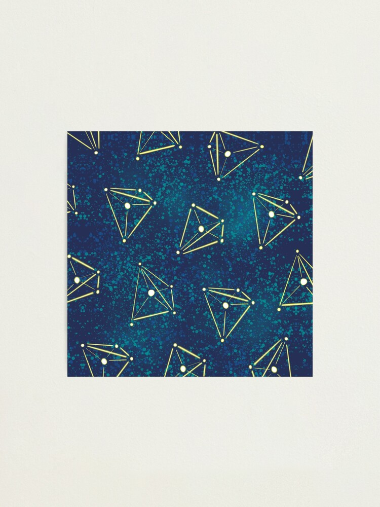 Alternate view of Tetrahedral Molecular Geometry Constellations Photographic Print