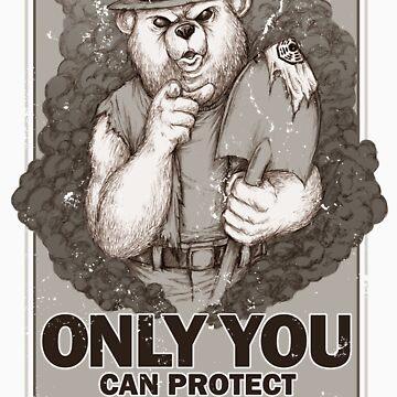 Smoke The Lost Bear by WinterArtwork