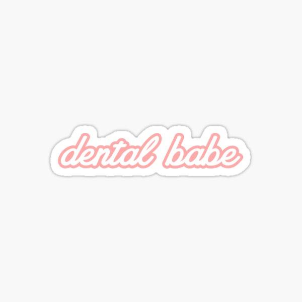 Dental Babe Peach Sticker