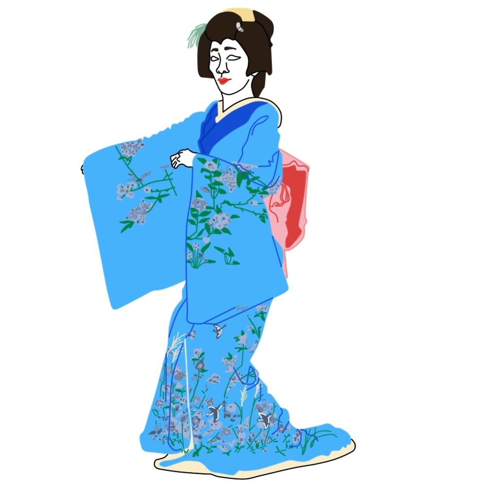 Cherry Blossoms Kimono Motif by KHRArts