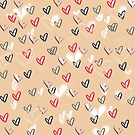 Abstract heart pattern background by LoraSi