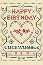 Happy Birthday Funny Cockwomble Card by shufti