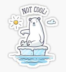 Pegatina Oso polar - ¡El calentamiento global no es genial!