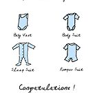 New Baby Boy or Girl (Blue Version) Congratulations New Parents by shufti
