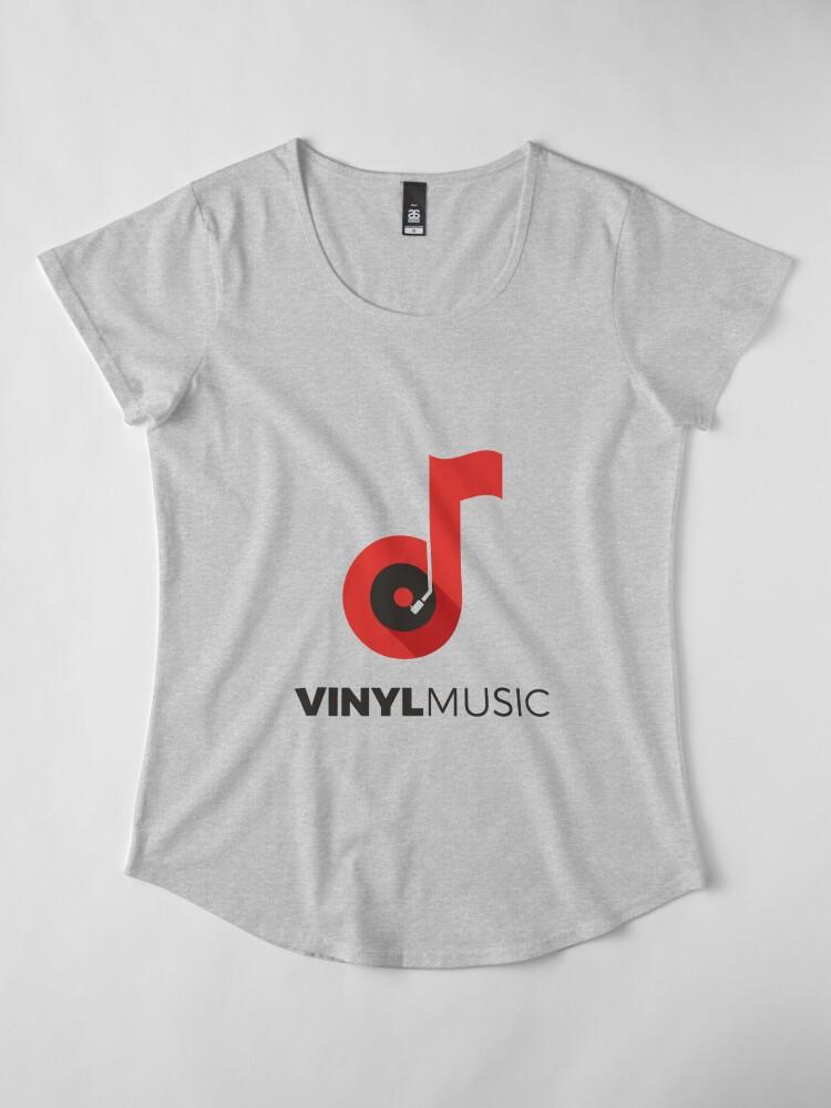 Alternate view of Vinyl music lovers Premium Scoop T-Shirt