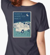 VW Bay Window Bus - Home Is Where You Park It Women's Relaxed Fit T-Shirt