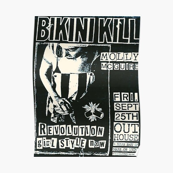 Bikini Kill Vintage Concert Poster