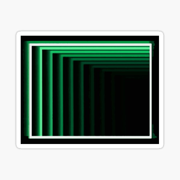 Enter the Basement (Evil Green Logo) Sticker