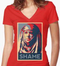 Shame Women's Fitted V-Neck T-Shirt
