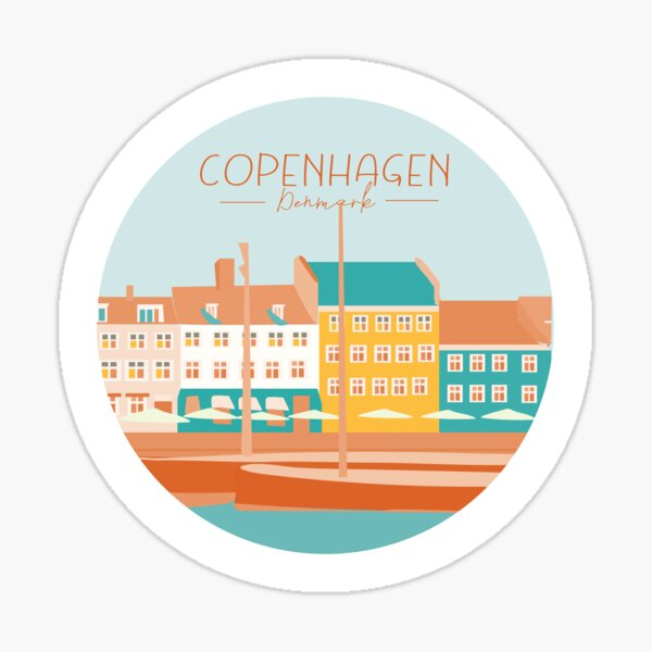 Kopenhagen Dänemark Aufkleber Sticker