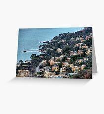 liguria coast Greeting Card