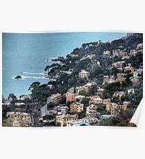 liguria coast Poster