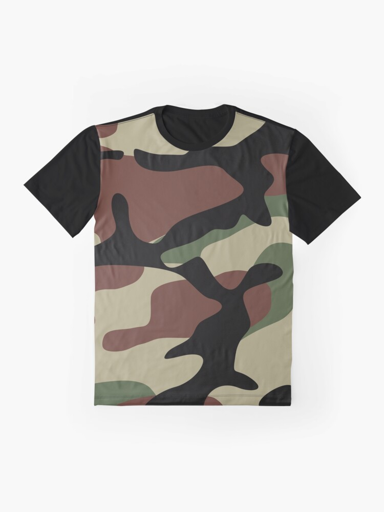 Alternate view of Military Camouflage Pattern Graphic T-Shirt
