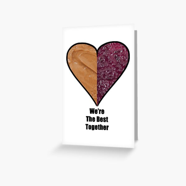 Peanut Butter & Jelly Love Greeting Card