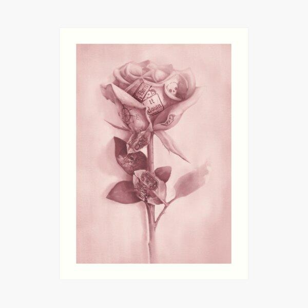 A rare rose Art Print