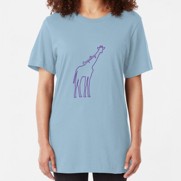 A giraffe and a need Slim Fit T-Shirt