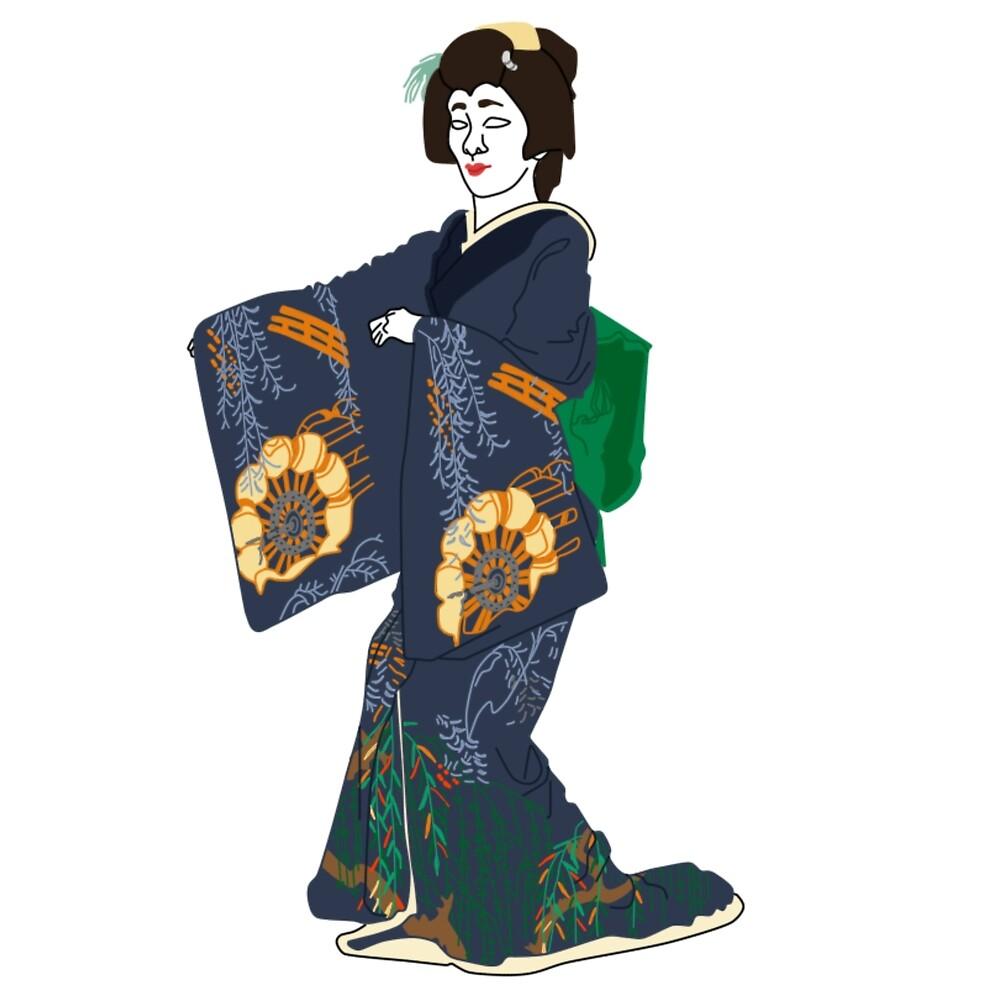 Willow Kimono Motif by KHRArts