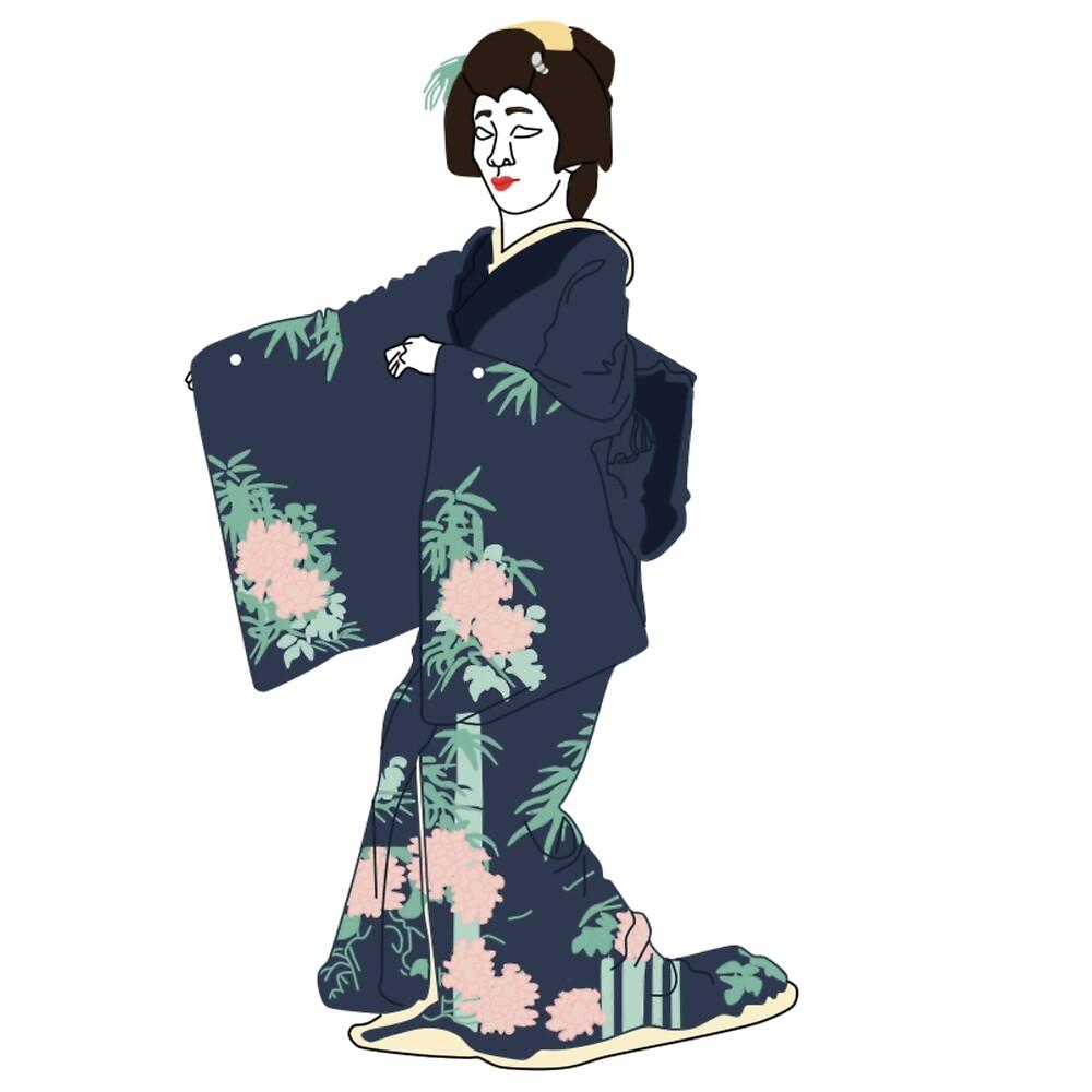 Bamboo Kimono Motif by KHRArts