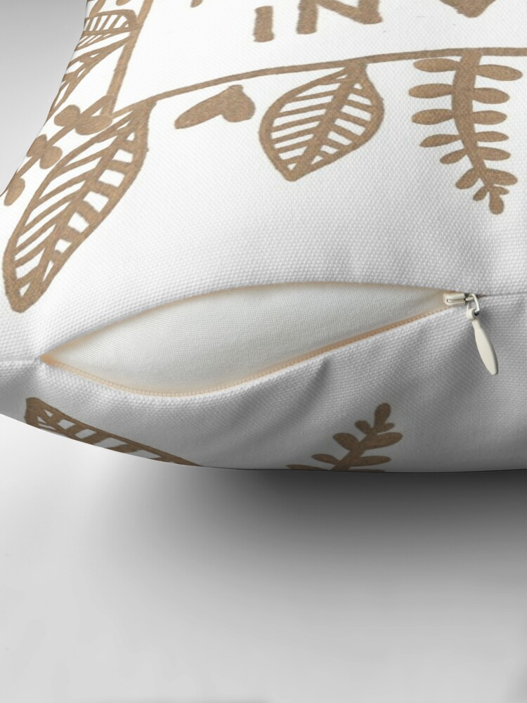 Alternate view of Namast'ay in bed Throw Pillow
