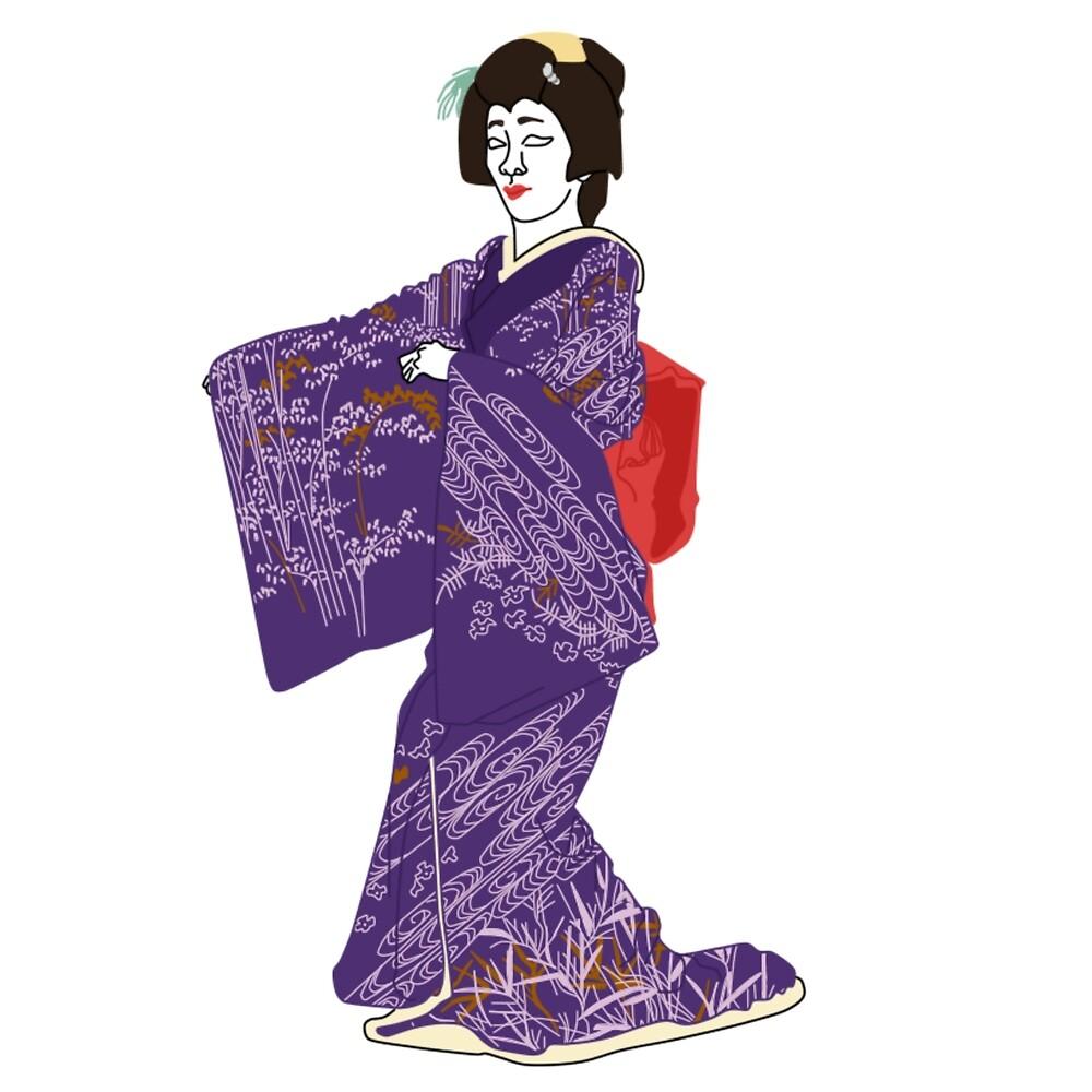 Bamboo Grass Kimono Motif by KHRArts