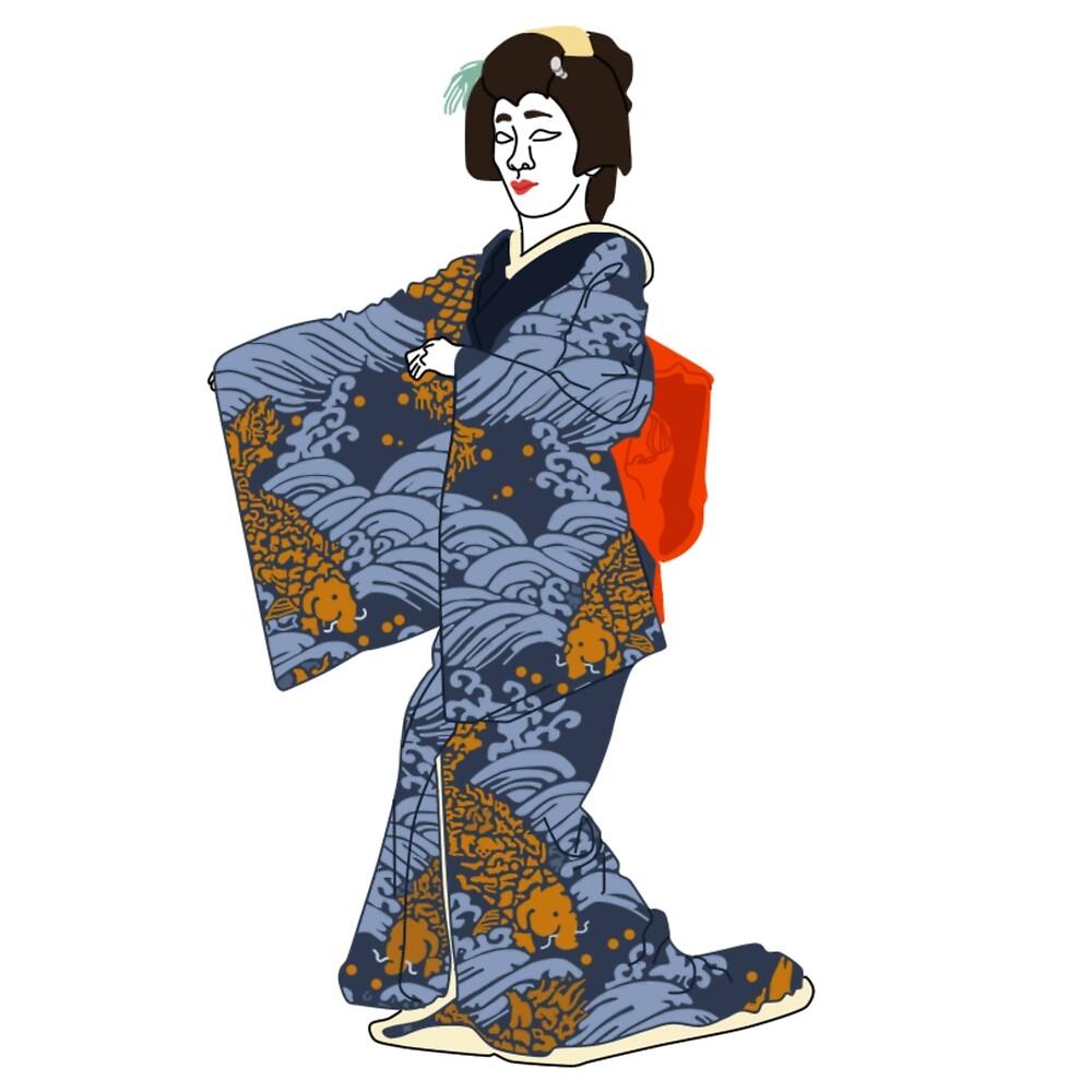 The Sea Kimono Motif by KHRArts