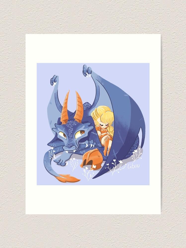 Impression artistique ''Dragon violet mignon': autre vue