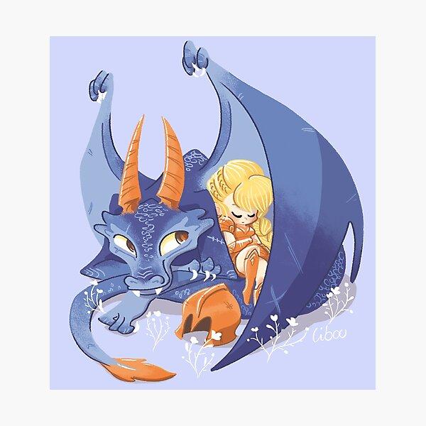 Dragon violet mignon Impression photo