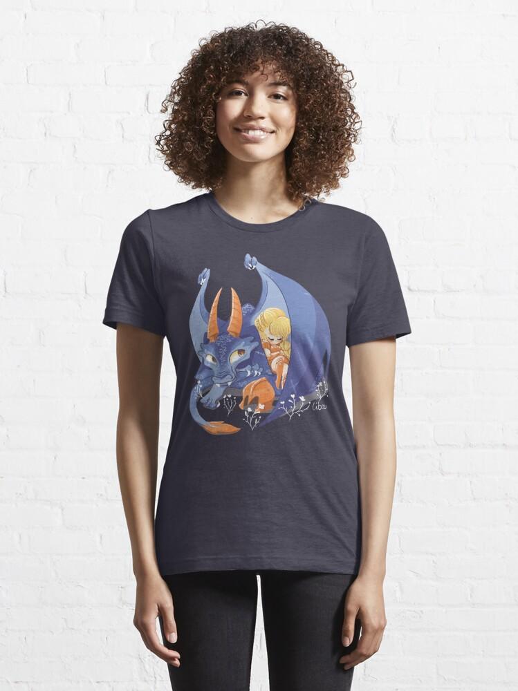 T-shirt essentiel ''Dragon violet mignon': autre vue