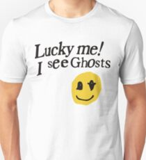 Lucky me I see Ghosts smiley Unisex T-Shirt